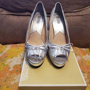 Michael Kors Lolita Platform Heel Silver